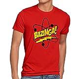 CottonCloud Sheldon Atom Herren T-Shirt, Größe:L;Farbe:Rot