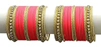 {Extra 20% Discount} Girl's Style Ethnic Fabulous Crystal Stud Carrot Bangles Partywear Indian Jewellery (2.6)
