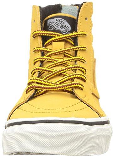 Vans SK8-HI ZIP Unisex-Kinder Hohe Sneakers Braun (mte/honey/leather)