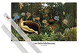 1art1 Poster + Hanger: Henri Rousseau Poster (91x61 cm) Der Traum, 1910 Inklusive EIN Paar Posterleisten, Transparent