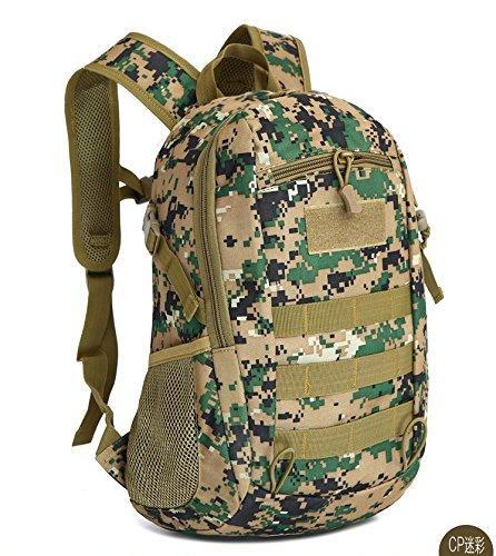 Esercito Outdoor fan piccolo zaino maschio e femmina alpinismo camouflage Borsa Zaino spalla 16 litri 37*24*13cm, Jungle Digital CP Camouflage