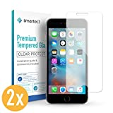 smartect Pellicola in Vetro Temperato per iPhone 6 / 6s [2 Pezzi] - Pellicola Protettiva con durezza 9H - Salvaschermo Anti-Impronte e Anti-Bolle