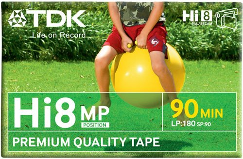 TDK P 5 90 HI8 MP Video Cassette Confezione da 1