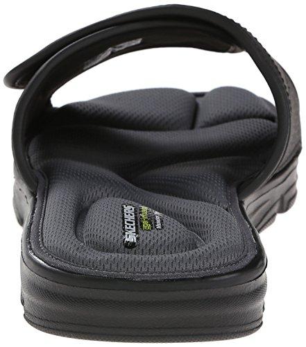 Skechers Sport Wind Swell Slide Sandale, Black, 44 EU -