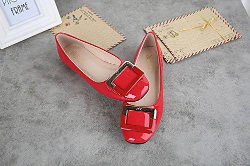 &qq Chaussures professionnelles bouche superficielle, chaussures plates, chaussures confortables sauvages, chaussures décontractées 37