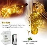 Remote and Timer 100 LED Outdoor Battery Fairy Lights (8 Modes, Dimmable, IP65 Waterproof, Warm White) from Koopower