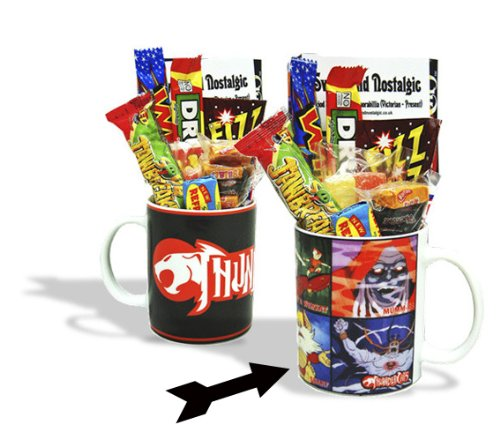 Thundercats Character Mug with a Thundera portion of 80's Retro Sweets. 630gms