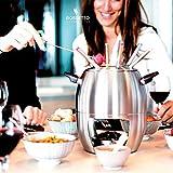 ROSSETTO Set à fondues INOX Bourguignonne, Chinoise, Bressane, Chocolat, Savoyarde pour 6 Personnes