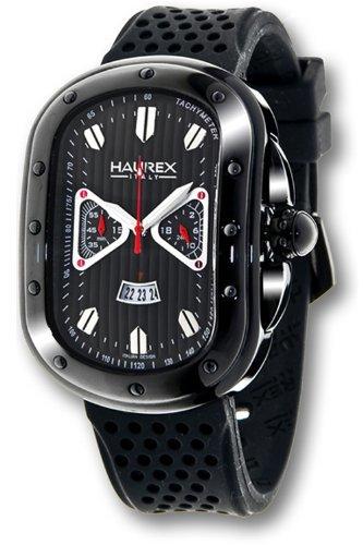 Haurex Italy - 3N338UNG - Montre Homme - Quartz - Chronographe - Bracelet Caoutchouc noir