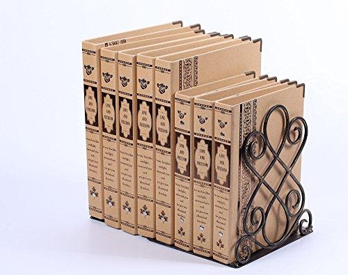 Buchstützen aus metall - Dekorativ Buchstütze Home - 180 x 200 x 220mm - Schwer und stabil bookends (Dekorative Ordner)