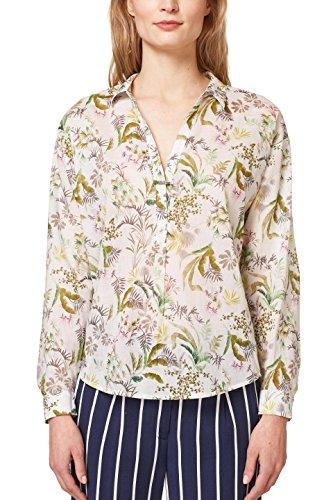 ESPRIT Damen 048EE1F010 Bluse, Mehrfarbig (Off White 110), Large