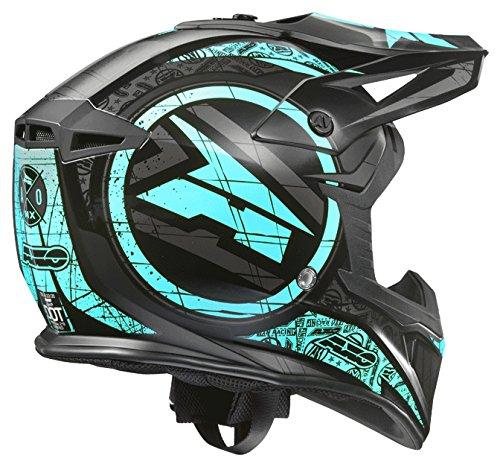 AXO Jump Helme, Azur/Schwarz, M