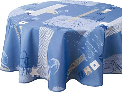 Nappe anti-taches Marin - taille : Ovale 150x240 cm