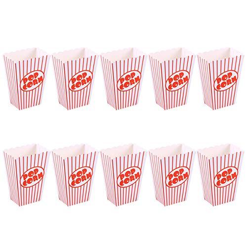 Amosfun Papier-Popcorn-Boxen Einweg-Bonbon-Behälter Geschirr, Babyparty, Geburtstagsparty, 12 Stück (Einweg-bonbons)