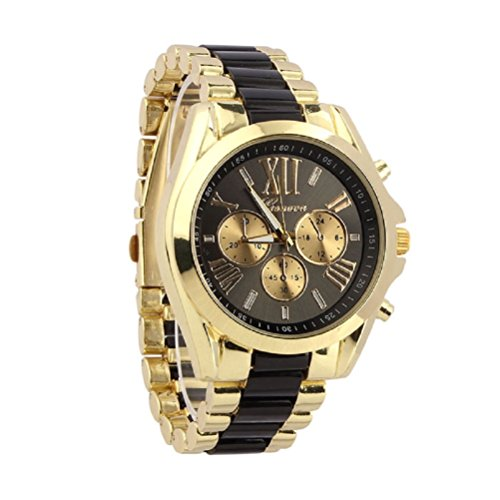 Relojes Hombre,Xinan Cuarzo Acero Inoxidable del Reloj Análogo Clásico de Lujo (Negro)