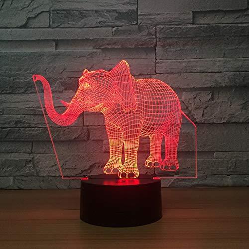 3D Óptico Illusions Led Lámparas Elefant Led Lámpara De Mesa Luces De...