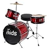 EKIDS dsj90r Kit de Batería para niños, color rojo