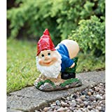 MDL-Mooning Novelty Garden Gnome Solar Powered (RED HAT)