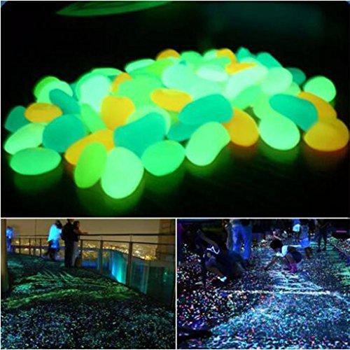 200Stück Fisch Tank angelegten Gips Villa Töpfe Painted King Pebbles Künstliche Luminous Stein