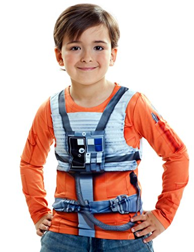 viving Kostüme viving costumes231041 Luke Skywalker Boy Lange Ärmel Shirt (6-8 Jahre, One Size)