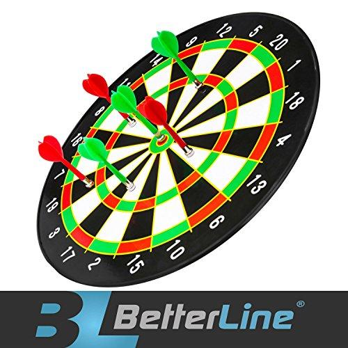 Magnetisches Dartspiel Set mit 16 Zoll Dartscheibe und 6 Dartpfeilen - Better Line