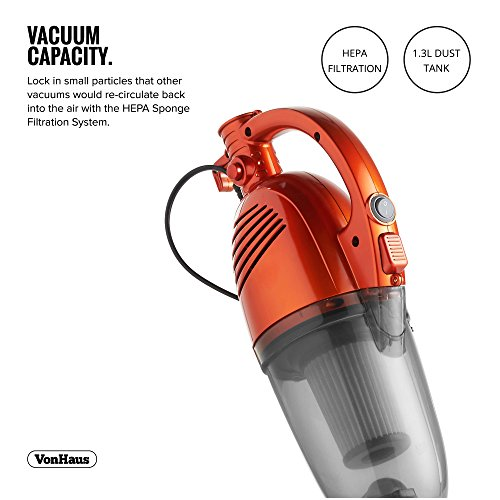 VonHaus 1000W 2-in-1 Upright Stick & Handheld Vacuum Cleaner with HEPA and Sponge Filtration & Crevice Tool