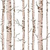 Hochwertige PVC-Behälter Baumstämme Tapeten mit modernen, minimalistischen Wohnzimmer TV Hintergrundbild , Dunkel 52802 Kaffee, 53*1000