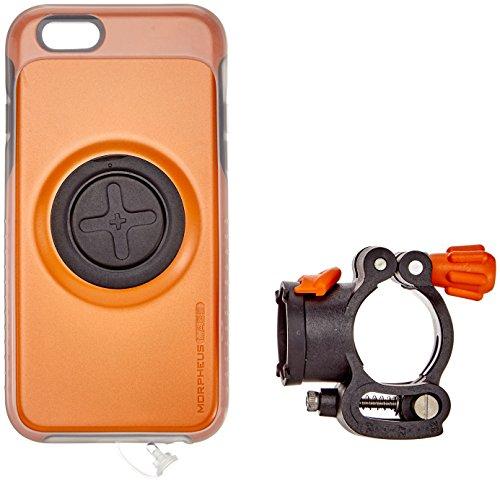 Morpheus Labs M4 BikeKit - iPhone 6/6s Bike Kit - Fahrrad Handyhalterung - iPhone 6/6s Hülle & Fahrradhalterung mit patentiertem Magnet-Verschluss incl. RainCover orange [Orange]