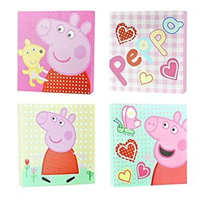 Peppa Pig Square Canvas Wall Art (4 Pack) - cheap UK light store.