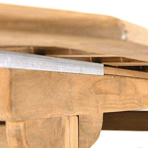 DIVERO GL05525 Großer ovaler ausziehbarer Gartentisch