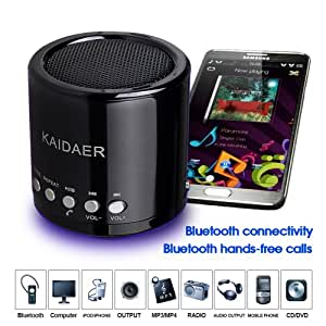 kaidaer mn02bt t 2 me g n ration mini enceinte st r o bluetooth mains libres pour t l phone. Black Bedroom Furniture Sets. Home Design Ideas