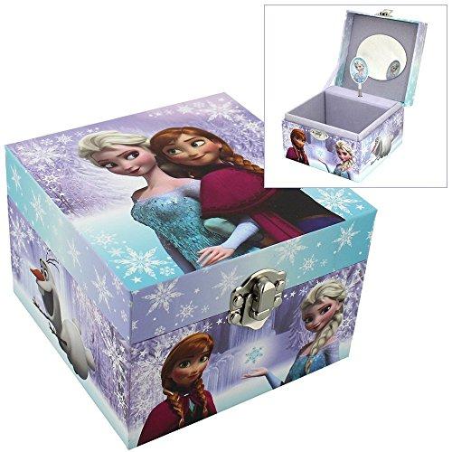 Disney-Joyero-musical-con-diseo-de-Frozen-con-imgenes-de-Elsa-y-Anna