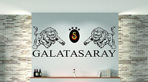 Preisvergleich Produktbild 3 Farbig Galatasaray als Wandtattoo Beschreibung beachten!! I Aufkleber in 27 Farben und versch. Gr. - ca. 133 x 48 cm (bxh) - SCHWARZ
