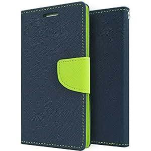 AMERICHOME Artificial leather FLIP COVER FOR Lenovo K 5 PLUS(BLUE)
