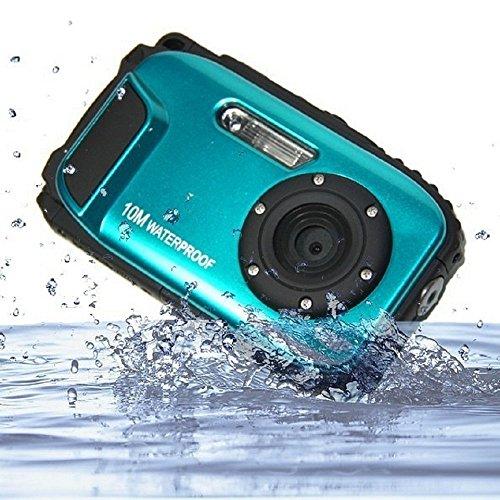 PowerLead Unterwasser Kamera 2,7 Zoll LCD Digitalkamera 16MP Video Camcorder wasserdicht Kamera Zoom Video Recorder + 8 X Zoom Cam (blau-5)
