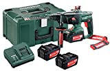 Metabo KHA 18 LTX Perforateur-Burineur sans Fil + 3 Batteries Lithium 4,0 Ah, 18 V, Vert