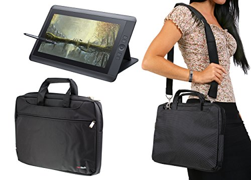 Navitech schwarz Grafiktabletui / Tasche für die Wacom Cintiq 13HD