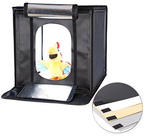 Somikon Mobiles Fotostudio: Profi-Studio-Lichtzelt, 4 Cob-LEDs, 40 Watt, 2.400 Lumen, 40 x 40 cm (Foto Studio Box)