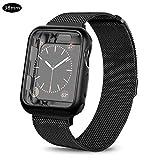 mollylover Uhrenarmband für Apple Watch Edelstahl-Mesh-Sport-Armband Uhrenarmbandschlaufe für Iwatch-Serie 1/2/3