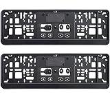 2 x kurz Kennzeichenhalter 46 cm schwarz Nummernschildhalter 460 x 110 mm NEU