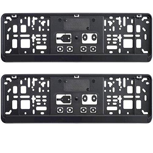Preisvergleich Produktbild 2 x kurz Kennzeichenhalter 46 cm schwarz Nummernschildhalter 460 x 110 mm NEU