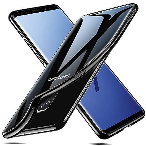 ESR Transparent Hülle kompatibel mit Samsung Galaxy S9, Silikon Handyhülle Bumper Durchsichtig TPU Schutzhülle kompatibel mit S9 5,8 Zoll 2018(Beschichteter Schwarzer Rahmen)
