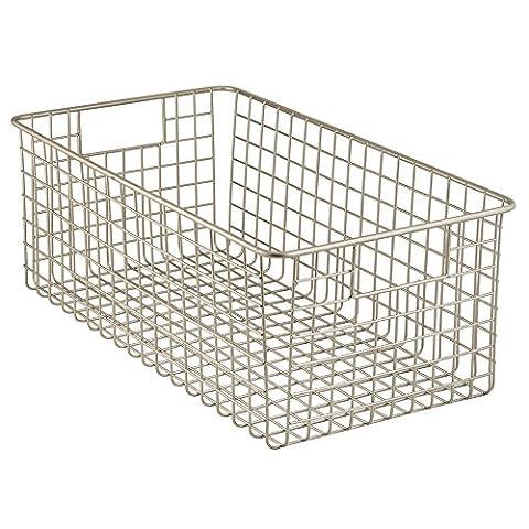 InterDesign Classico Wire Basket 2, Deep, Satin, 1 piece