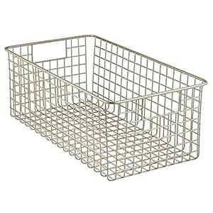 Interdesign classico corbeille de rangement panier en for Corbeille pour salle de bain