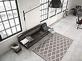 Kayoom RAUTEN Muster Teppich MODERN Taupe Elfenbein 3D Effekt TEPPICHE Sale, Größe:120cm x 170cm
