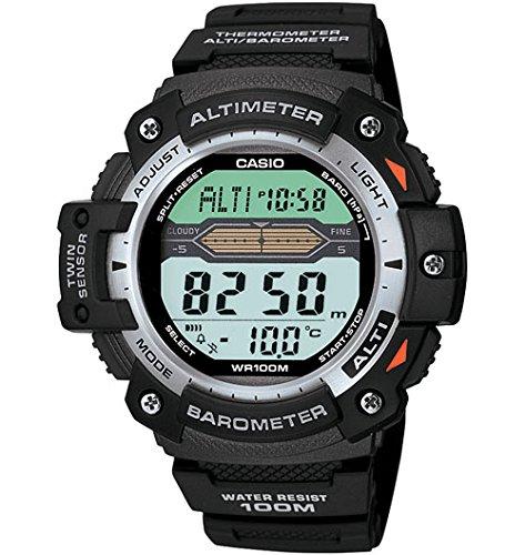 Casio Twin Sensor - Reloj (Resina, CR2016, 47 g, 49,2 x 50 x 14,1 mm, Negro)