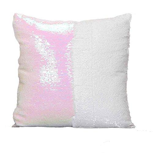Paillettes federa creativo doppio colore glitter paillettes throw pillow case cafe home decor copre magico che cambia colore copertura del cuscino, k, 40cm*40cm/15.74 * 15.74