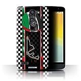 Stuff4 Phone Case for LG L Bello/D331 F1 Track Flag Abu