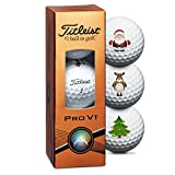 Titleist Pro V1 Christmas Golf Balls - 3 Pack