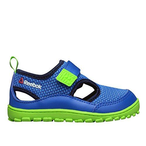 Reebok Ventureflex Sandal III, Scarpe primi passi bambini Multicolore Azul / Verde / Negro (Blue Sport/Faux Indigo/Solar Green/White) 21
